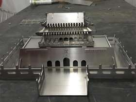 不锈钢工艺品摆件-可拆卸拼装的天安门