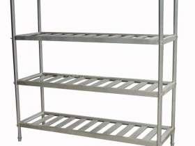 不锈钢制品:商用厨房不锈钢三层置物架