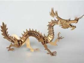 不锈钢工艺品摆件:金色中国龙