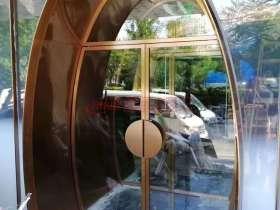 304玫瑰金拉丝不锈钢圆弧拱形门