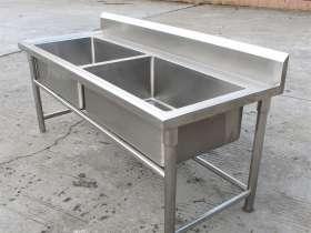 北京金利恒品牌双槽不锈钢水槽