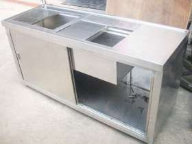 不锈钢厨房工作台(带水槽)