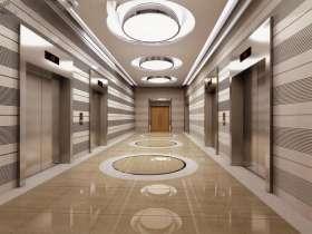 电梯厅不锈钢门套安装效果图