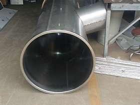 给深圳某幼儿园游乐场加工的不锈钢滑梯管道