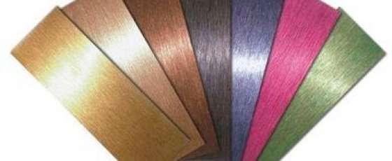 常见的几种彩色不锈钢表面加工工艺
