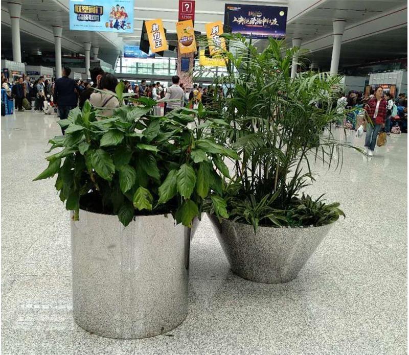 不锈钢大花盆图片2