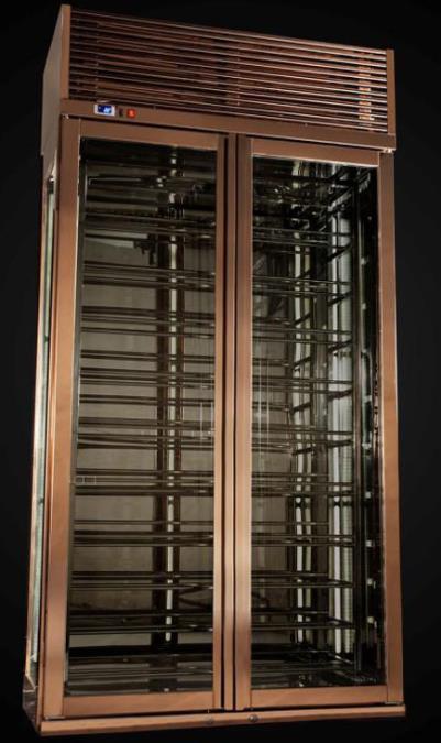 家用不锈钢恒温酒柜效果图
