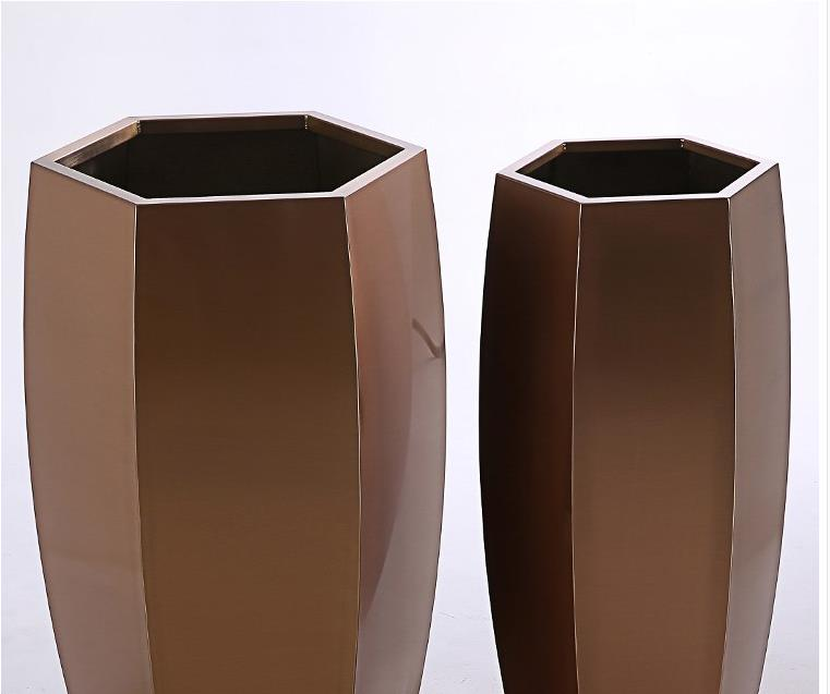 不锈钢六边花盆