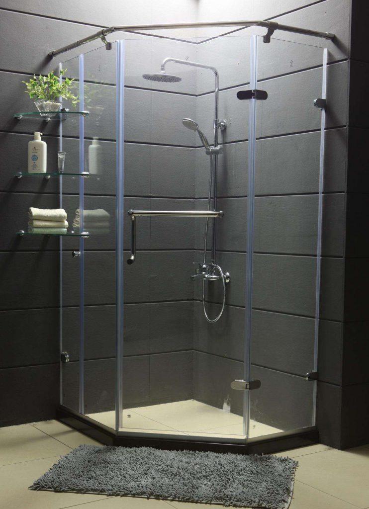 玻璃隔断淋浴房效果图