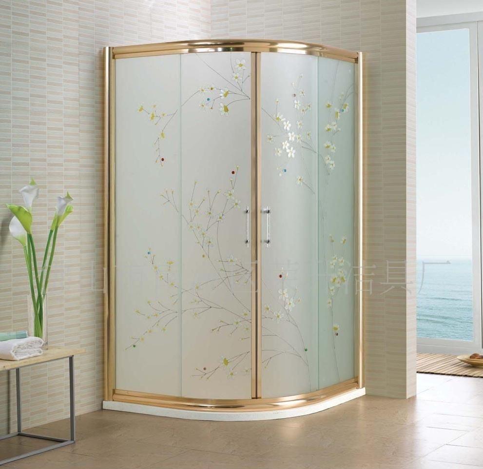 金色淋浴房隔断效果图大全